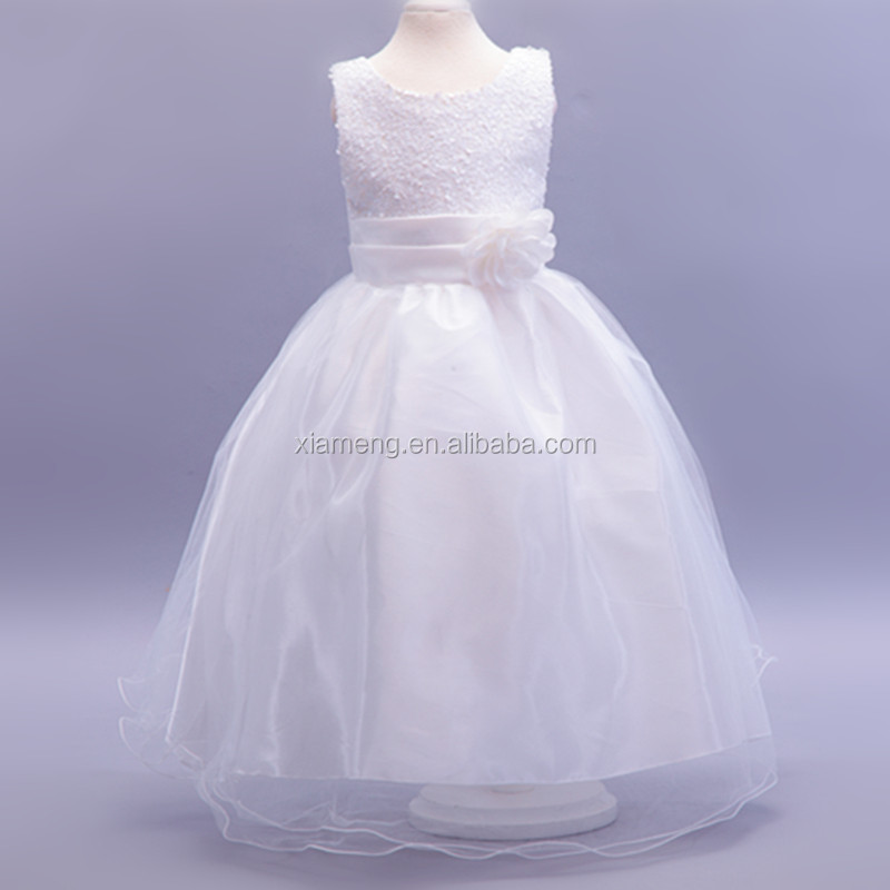 long white fancy baby girl party dress children frocks designs