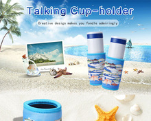 Beach Recording Cup Holder Use Soft Diving Cloth Material