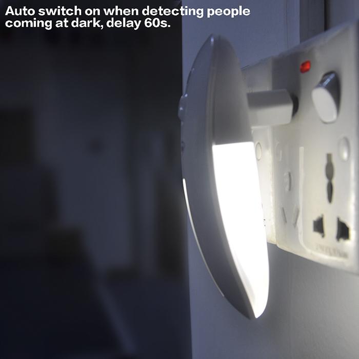 smart sensitivity pir sensor infrared led night light 9. Black Bedroom Furniture Sets. Home Design Ideas