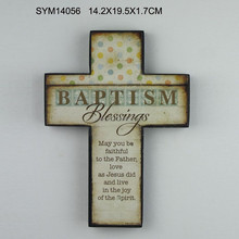 Small Antique Wooden Cross for Religious Events Decor