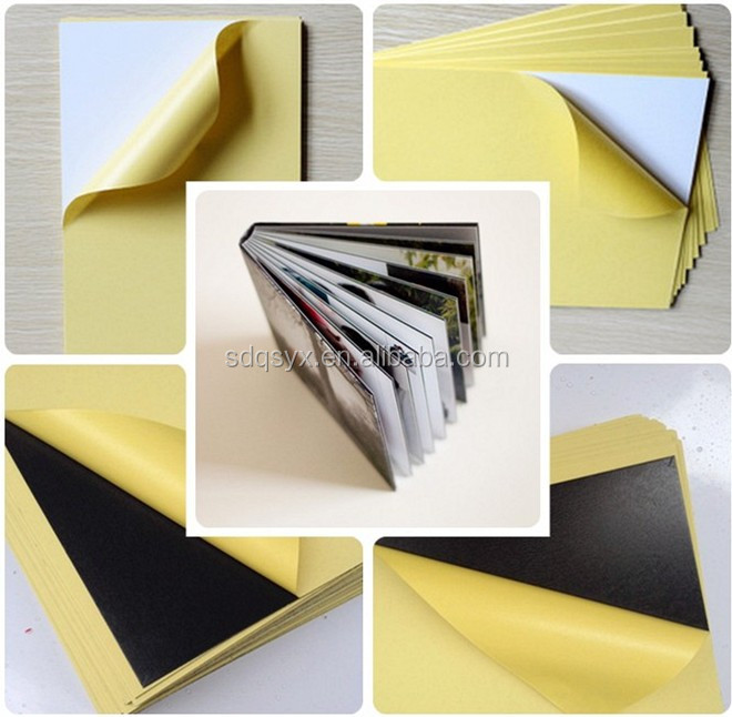 double side adhesive album inner sheet PVC on sale by manufacture