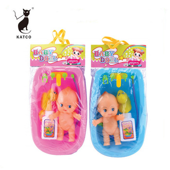 2019 Best Baby Christmas Gift Funny Pretend Bath Toy Plastic Baby Shower Set With Doll
