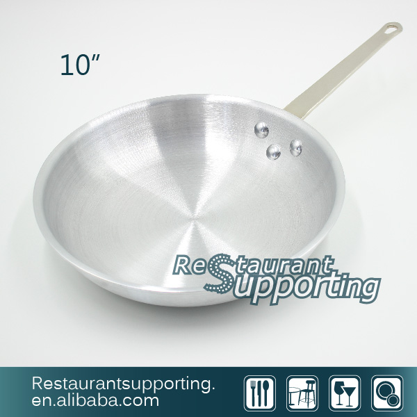 "10"" and 12""Stainless Steel Sanding Frying/CookPan Set with Long Handle"