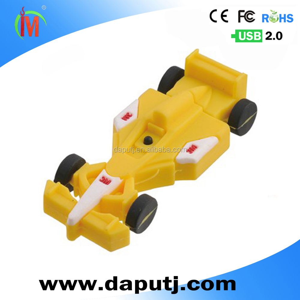Cool racing car usb flash drive ,128mb to 64gb pvc usb flash drive ,new design item for gift
