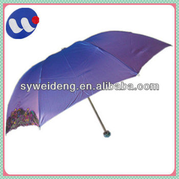 "21""*8k manual open folding fashion embroidered umbrella"