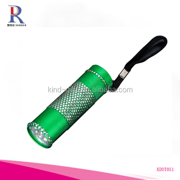 Bling rhinestone fancy portable led electric flashlight torch