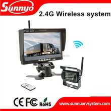 12/24V 7inch wireless system bus & truck rear view safety system