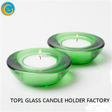 lucky blessing high quality sweet glass candle holder for Christmas