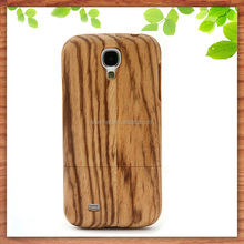 factory cheap wooden phone cover for samsung galaxy s3/s4 zebra wood case