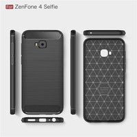 Protective carbon fiber tpu mobile phone cover case for Asus ZenFone 4 Selfie