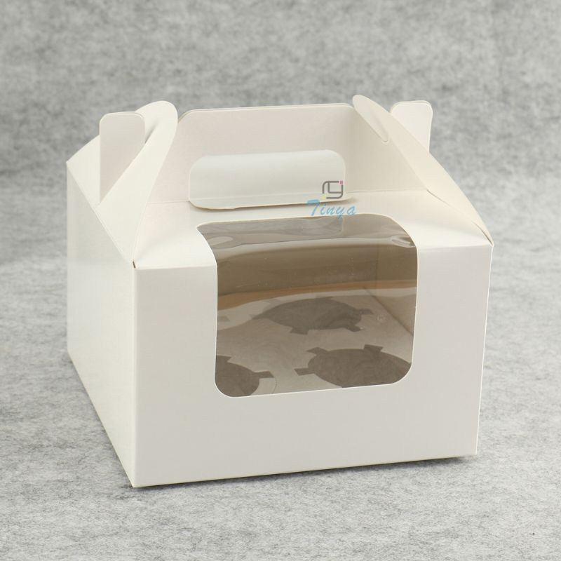 white window paper muffin box packaging