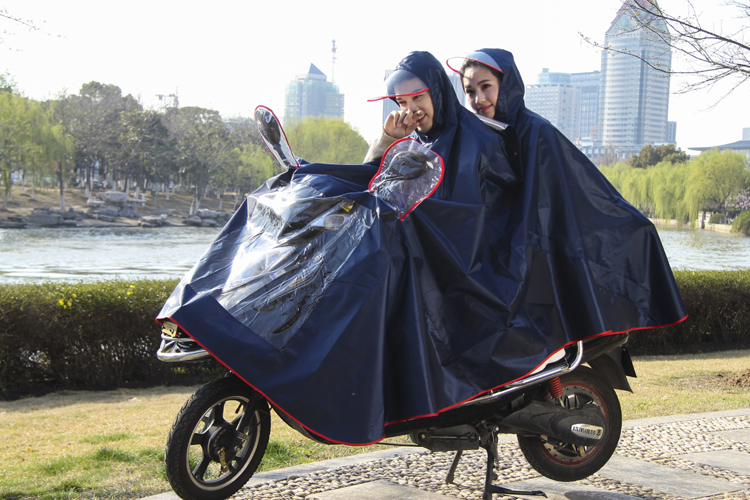China factory hot sale adult waterproof long raincoat double oxford poncho motorcycle