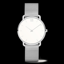 Factory supply brand name ladies write watch,women silver mesh band watches with all type