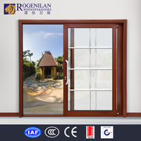 ROGENILAN spanish style double security screen doors top rated sliding glass doors