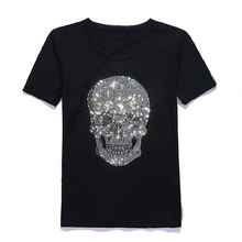 Own Design Couple T Shirt For Men and Women Rhinestone T Shirt