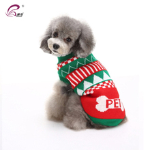 Holiday Pet Warm Clothes Colorful Christmas Dog Turtle Neck Sweater