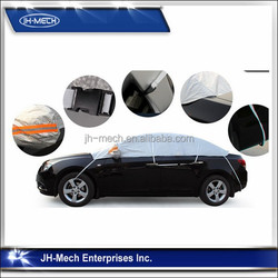 auto sun protection half car covers aluminum foiled half car cover