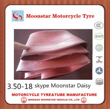red natural rubber inner tube 350-18 china tyre factory