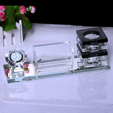 color pen holder with clock for Office supplies