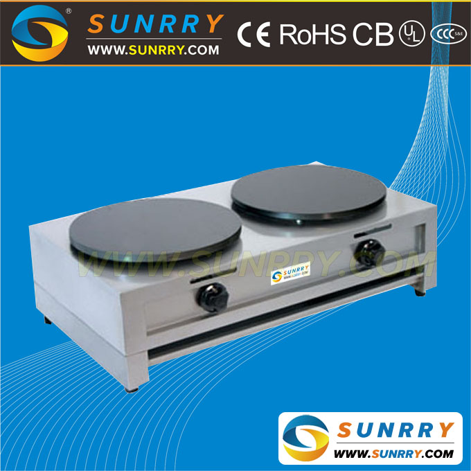 Popular Commercial and Industrial Crepe Maker Machine Used Gas (SUNRRY SY-CG45E)