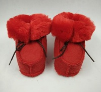 New arrived Winter infant warm Snow boots With fur Baby Girls Boys shoes First walkers baby Moccasins Sheepskin Suede 2 sizes