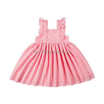 New style birthday baby dresses for 0-4 years boutique summer dress