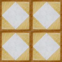 yellow and white Mosaic pattern decorative marble floor tiles 60*60cm or cut according to your needs