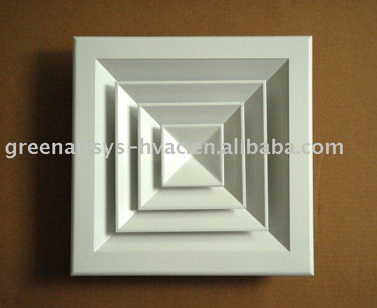 Square Air Diffuser neck size:375mm*375mm
