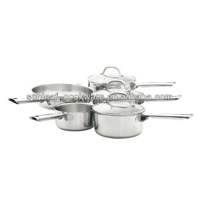 8 pcs Capsulated Stainless steel casserole ,stockpot removable handle cookware set