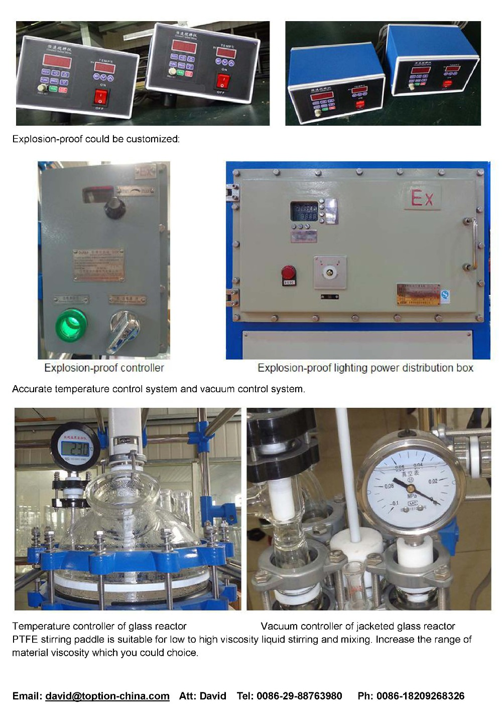 Jacket Glass Reactor 150L 200L