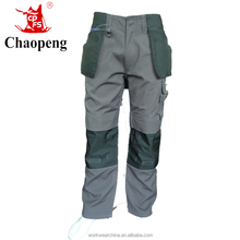Top quality Custom Grey color six pocket cargo pants with knee paded