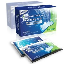 100% 3D Natural Advanced Non peroxide With Mint Coconut,Tooth Whitening Strips