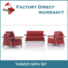 Modern office furniture sofa with stainless steel