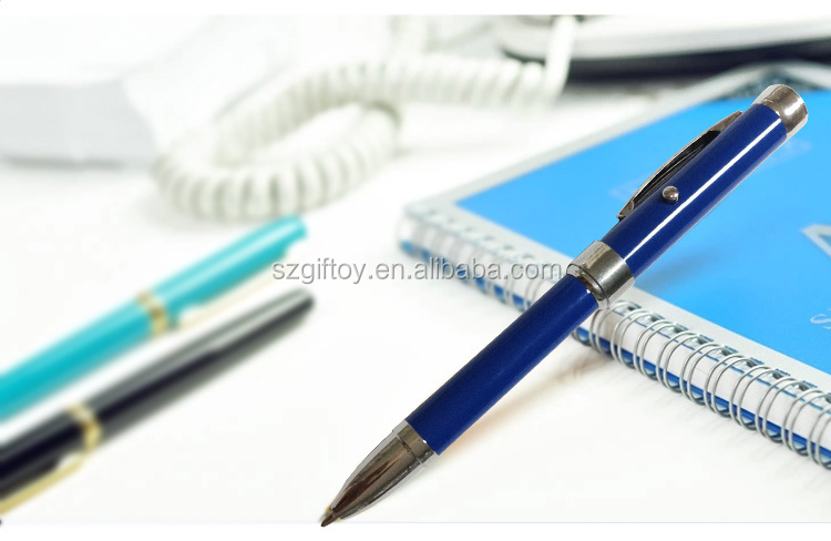 Logo Projection Pen Promotional flashlight ballpoint pen with different color