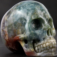 factory direct wholesale 2 inch indian agate stone skull carving craft