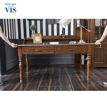 American Village Style Durable Writing Desk,Solid Wood Desk Decor