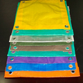 2m Width Orange Blue Colors PE Tarpaulin For Covers