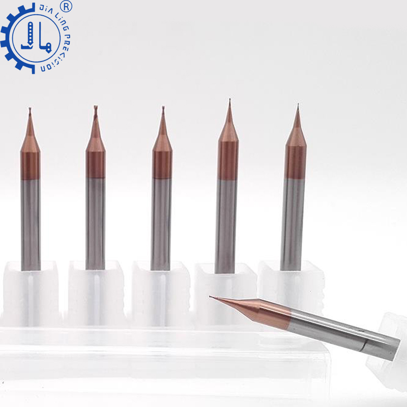JIALING 2 flute special ball nose end mill micro grain <strong>carbide</strong> 0.5mm end mill