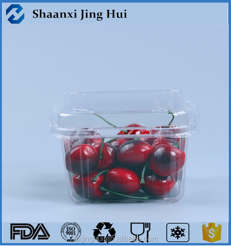 disposable plastic food container rectangular/fruit packaging box/PET material plastic box for fruit