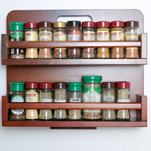 Revolving bamboo spice rack with gift box