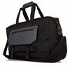 New design fashion black durable big size mens custom 100% nylon leather waterproof travel bag