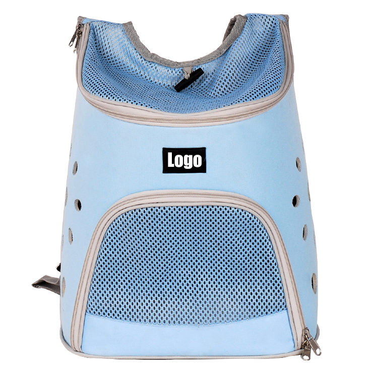 Soft private label oxford fabric pet transport bag carrier back pack for dog