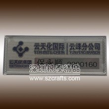 Hot selling company staff hotel clerk nameplate