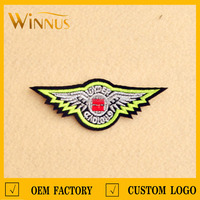 hot sale custom logo biker embroidered patches design