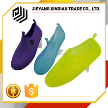 foldable transparent jellies shoes pvc jelly sandals