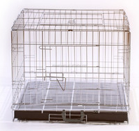 high quality iron dog crate kennel with grill metal tray