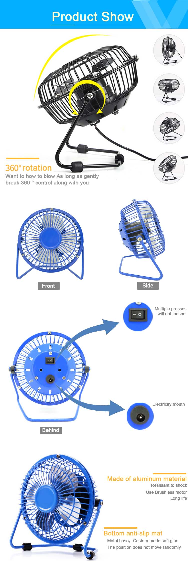 Mini Portable Air Conditioner Conditioning USB Tower Fan Factory For Car Home Appliance Fan Good For Promotion