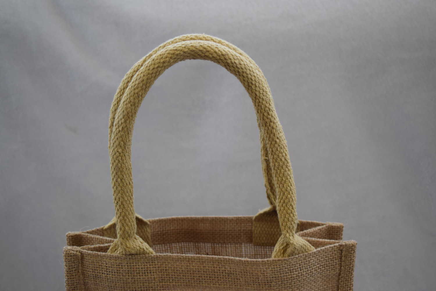 Wholesales good quality personalized natural burlap jute tote