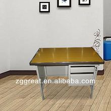 Steel Cheap 2013 hot sale metal leg wood top school desk/metal school desk and chair