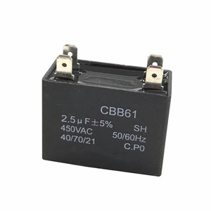 exhaust fans capacitor ceiling fan capacitor 2.5uf capacitor CBB61